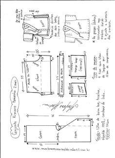 Sewing Blusas Blusa ombro a ombro ciganinha - DIY- marlene mukai - molde infantil Baby Dress Patterns, Kids Patterns, Coat Patterns, Clothing Patterns, T Shirt Sewing Pattern, Pattern Drafting, Jacket Pattern, Kimono Diy, Sewing Clothes Women