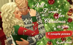 sims, spice and everything nice : All I want for Christmas is You - 5 couple poses. The Sims, All I Want, Things I Want, Trending Photos, Sims 4 Mods, Couple Posing, Secret Santa, Nerd, Animation