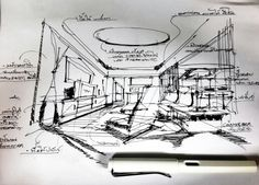Sketch Exhibition Plan, Muji, Sketch Design, Retail Design, Sketching, Perspective, Floor Plans, Concept, Architecture