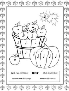 Music Coloring Pages (16 Fall Music Coloring Sheets)