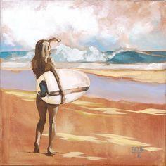 Kauai Art Tour ~ Artists Open Studios 2015 artist: Evelin Kekeski - Weekend 2: Hanalei #surfergirl #surf #Kauai #Hawaii #surfer #artist #beach visit http://KauaiArtTour.com