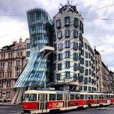 """The """"Dancing House"""" in Prague. Photo courtesy of 1worldtravel on Instagram."""