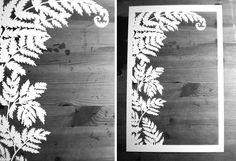 Fern papercut ketubah #ketuba #papercut #nature #white by Naomi Shiek