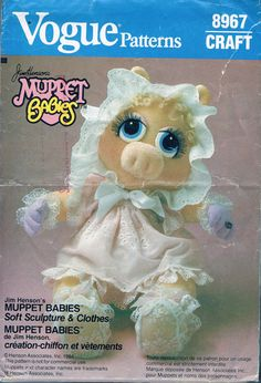 UNCUT Baby Miss Piggy With Dress Sewing by BusyBeaverBoutique