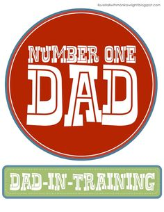 Number One Dad #printable (for iron-on, tag or card)