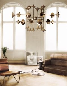 Botti suspension lamp is designed by portugal based company called Delightfull. It is a contemporary lighting design made from brass. Lighting Inspiration, Mid Century Modern Lighting, Contemporary Lighting, Decor, Vintage Lamps, Recycled Lamp, Ceiling Lamp, Expensive Furniture, Interior Design Projects
