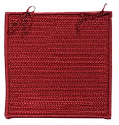 At Home Indoor Outdoor Square Braided Chair Pad, Sangria Sangria, Indoor Outdoor, Chair Pads, Mild Soap, Chair Cushions