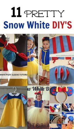 Today I have rounded up 11 pretty snow white DIY'S to get you started on sewing or creating your costumes. Perfect for Halloween, Disney trips or everyday!