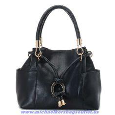Buy Michael Kors Black Braided Rope Should Bag
