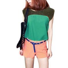 Allegra K Women Sleeveless Scoop Neck Embelished Pullover Shirt Green XS Allegra K. $7.38