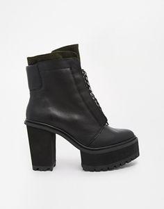 Shellys London Celee Lace Up Platform Ankle Boots