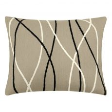 """15"""" x 19"""" Streamers Pillow, Black made by Judy Ross Textiles."""