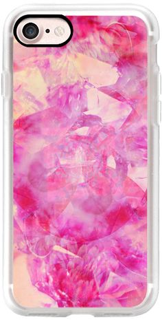 Casetify iPhone 7 Classic Grip Case - Pink Crystals by Coral Antler Creative #Casetify