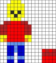 lego perler beads | lego minifigure perler bead pattern bead sprite this pattern is ...