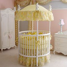 Yellow Erfly Round Baby Bedding And Nursery Necessities In Cribs