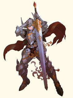 Heavy armor for a woman would probably have only a few minor changes from the more commonly seen male version.