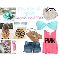 Daughter of Apollo- Summer Beach Wear made by dudeimahylian Percy Jackson Movie, Daughter Of Poseidon, Fandom Fashion, Greek Clothing, Apollo, Summer Outfits, Luxury Fashion, Summer Beach, Greek Outfits