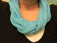 Six different ways to wear an Infinity Scarf.