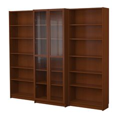 IKEA Billy bookcase combination with doors in medium brown