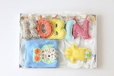 would love a whole alphabet set of these fabric letters!! so cute!