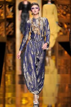 """Christian Dior look inspired by Paul Poiret. """"The look of the designer Paul Poiret is facing true to its innovative vision and spirit of Eastern Europe."""""""