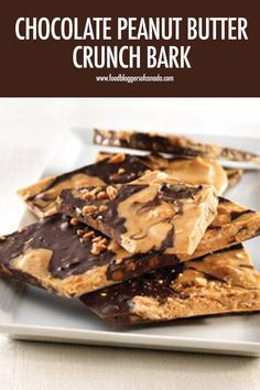 Chocolate Peanut Butter Crunch Bark | Food Bloggers of Canada  Combine three different types of Hershey's Chipits along with sugar cone pieces to make this delicious, crunchy chocolate peanut butter crunch bark that's a perfect sweet treat  #chipits #foodbloggersofcanada via @fbcanada Yummy Snacks, Yummy Treats, Sweet Treats, Snack Recipes, Healthy Snacks, Candy Recipes, Peanut Butter Chips, Chocolate Peanut Butter, Chocolate Crunch