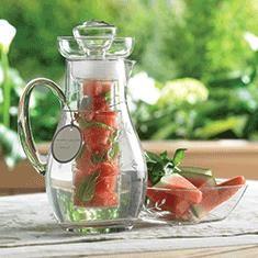 Watermelon + Basil Infusion   Princess Moderna™ Flavor lnfusion Pitcher from Princess House #Summer #Entertaining #BeatTheHeat