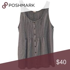 """{J.Crew Factory} Striped sleeveless blouse 🎁Offers encouraged & flexible                                                                                🔑Bundle to save 10%                                                                                                   👍Like for price drop notifications                                     EUC, no stains spots or loose threads. Top of sleeve to bottom hem ~25"""", top of back neck to hem~22"""", front neckline to hem~ 18.5"""", breast width~ 13""""…"""