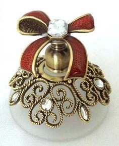 Burgundy Ribbon Perfume Bottle