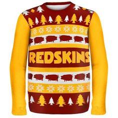 Washington Redskins Wordmark Ugly Sweater #Washington #Redskins #scheels