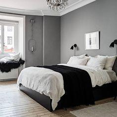 Grey White Bedroom Bedroom In 2019 Scandinavian Bedroom Bedroom Interior, Bedroom Makeover, Home Bedroom, Cozy House, Bedroom Interior, Home Decor, House Interior, Bedroom Inspirations, Interior Design Bedroom