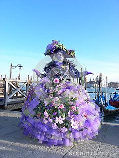 Fancy flowery dress, Carnival of Venice
