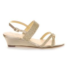 "Touch Of Nina Fredrica 2"" wedge sandal in Platino from Shoe Carnival — $35"