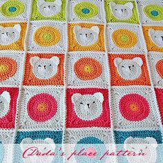 Crochet pattern Teddy Bear Baby Blanket & step-by-step tutorial