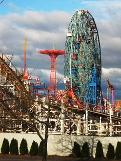 View from the parking lot.  Coney Island!  Rent-Direct.com - No Fee Rental Apartments in NY.