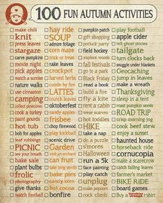 100 Fun Autumn Activities #kids #family #memories