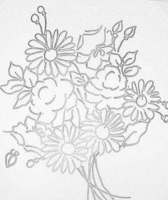 Pintura em Tecido Passo a Passo Com Fotos: EcoBag com Pintura de Rosas e Margaridas (Blues)