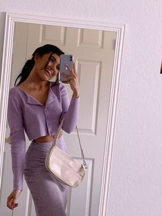 Petite Fashion Tips .Petite Fashion Tips Lila Outfits, Purple Outfits, Mode Outfits, Cute Casual Outfits, Fashion Outfits, Summer Outfits, Winter Outfits, Casual Dresses, Easy Outfits