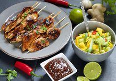 kylling satay Frisk, Chicken Wings, Turkey, Meat, Food, Meal, Eten, Hoods, Meals