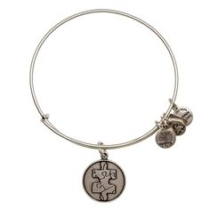 Alex and Ani bangle for Autism Awareness month.. Individuality | Discovery | Unity     Like a puzzle piece, every individual is shaped differently with unique talents, perspectives and beliefs. Once we share these gifts with each other, positivity will spread and hope will endure.