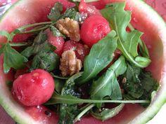 Rucola Salat mit Wassermelone und Walnüssen – Paleo360.de