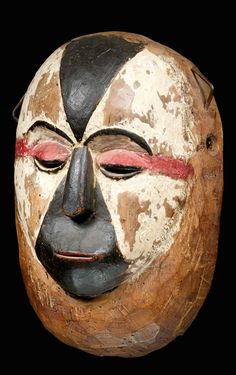 Africa | Mask from the Galoa people of Gabon | Wood, pigment