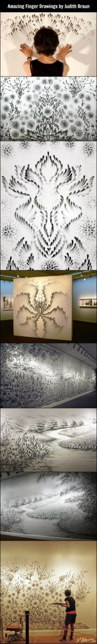 Amazing Finger Drawings by Judith Braun