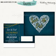 Blue Chalkboard String Light Inspired Wedding by alacartestudio, $15.00