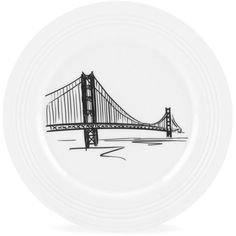Lenox Dinnerware, Tin Can Alley San Francisco Accent Plate ($20) ❤ liked on Polyvore featuring home, kitchen & dining, dinnerware, no color, lenox, lenox accent plates and lenox dinnerware