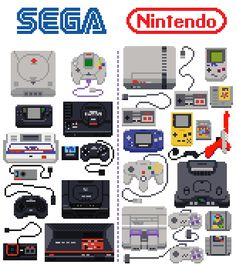 Gaming Devices By Milos Kostic Nintendo Sega, Nintendo Games, Nintendo Switch, Retro Video Games, Video Game Art, Sega Video Games, Kid Paddle, Dream Cast, Bartop Arcade