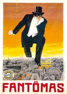 Fantômas, à l'ombre de la guillotine, film de Louis Feuillade (1913) affiche