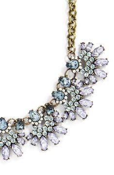 This statement necklace will add sophisticated sparkle to any outfit.
