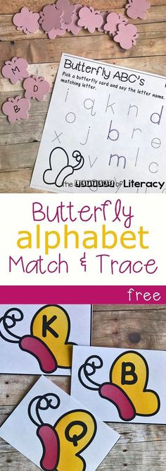 Butterfly Alphabet Match & Trace + Free Printables