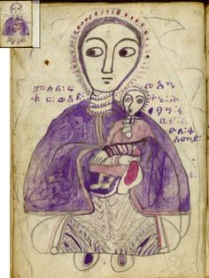 Ethiopian Madonna - Ge'ez language - Wikipedia, the free encyclopedia Religious Icons, Religious Art, La Sainte Bible, Art Brut, Madonna And Child, Medieval Art, Medieval Manuscript, Orthodox Icons, Naive Art